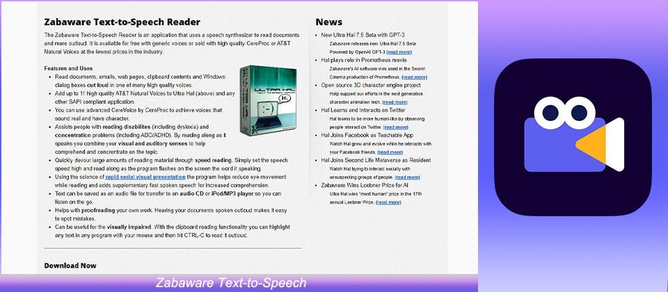 Zabaware Text-to-Speech