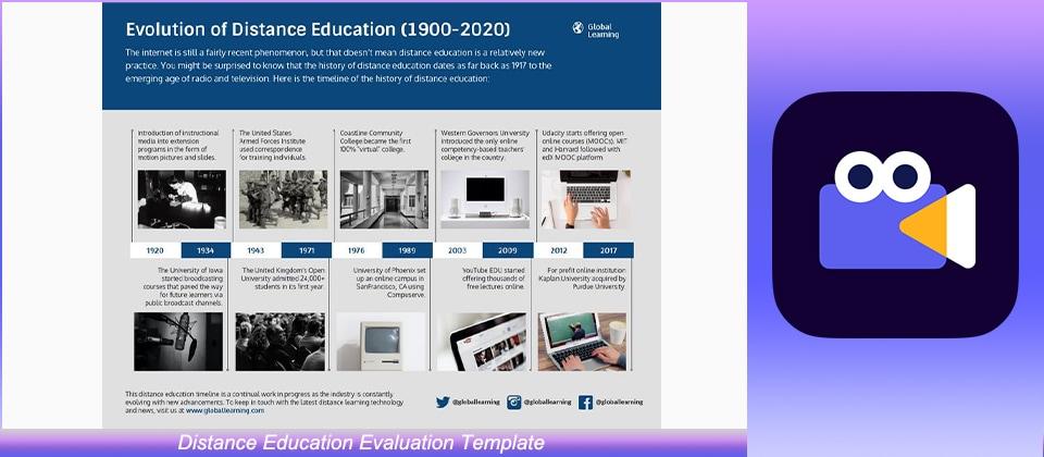 Distance Education Evaluation Template
