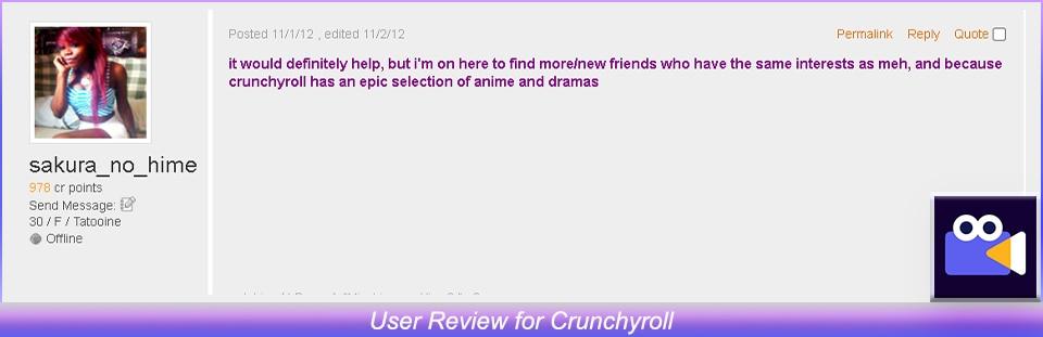 User Review of Crunchyroll