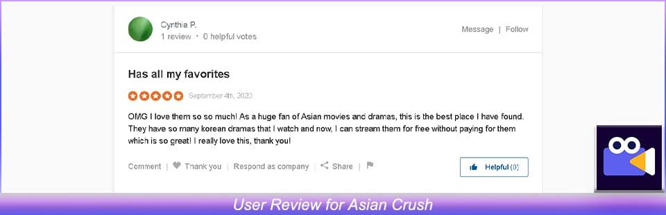 User Review of Asian Crush