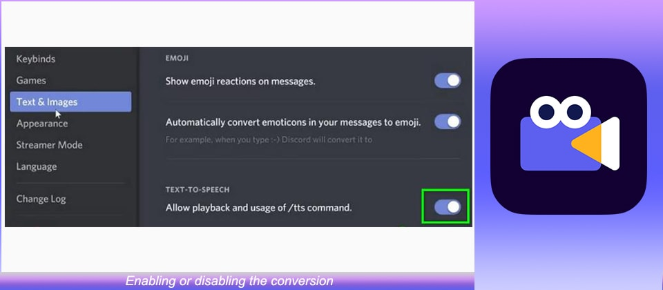 Enabling or disabling the conversion