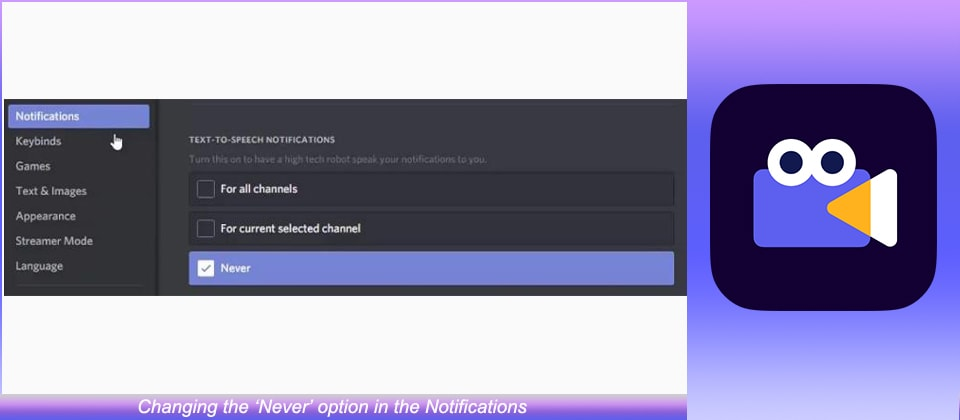 'Never' option