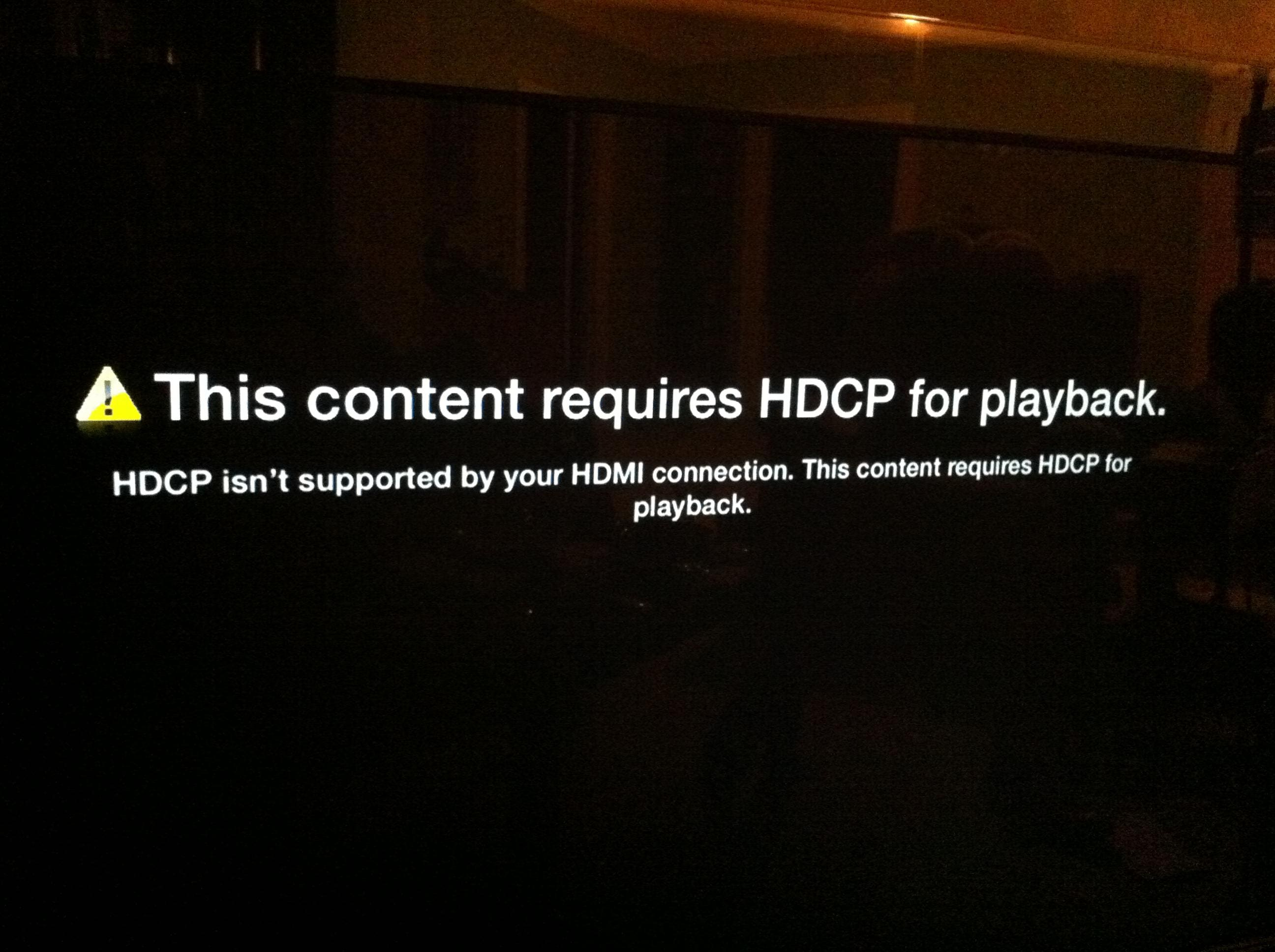 HDCP issues