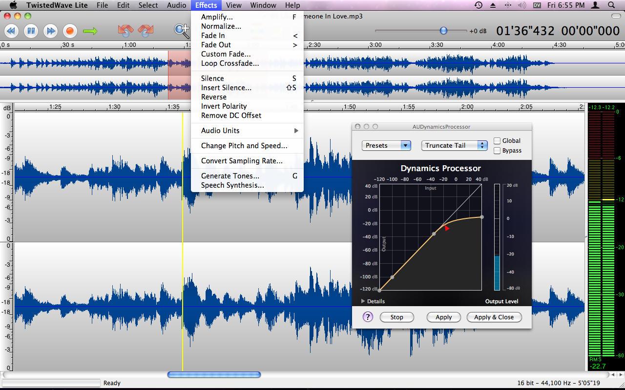 Free Audio Editing Software Mac