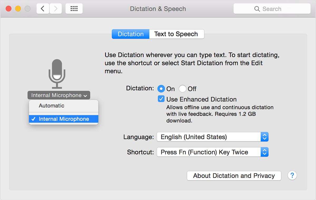 The speech accuracy test
