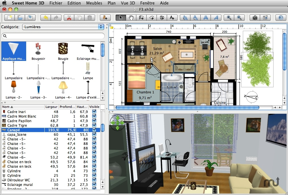 Part 4. 4  Sweet Home 3D. Features and Functions: This free kitchen design  software for Mac ...