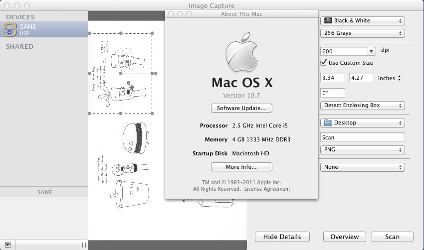 twain scan software mac os x