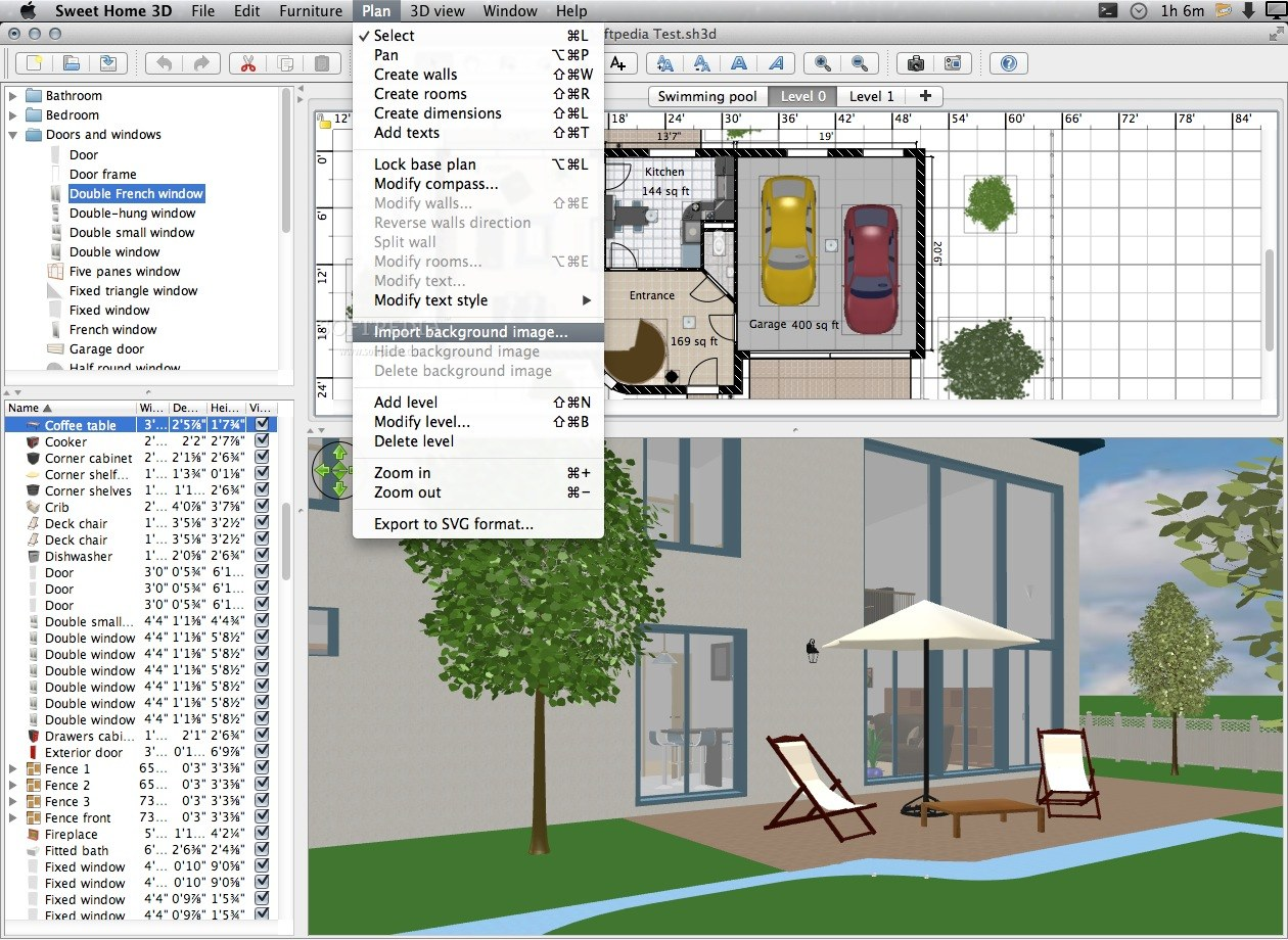 Free interior design software for mac for Home furniture design software