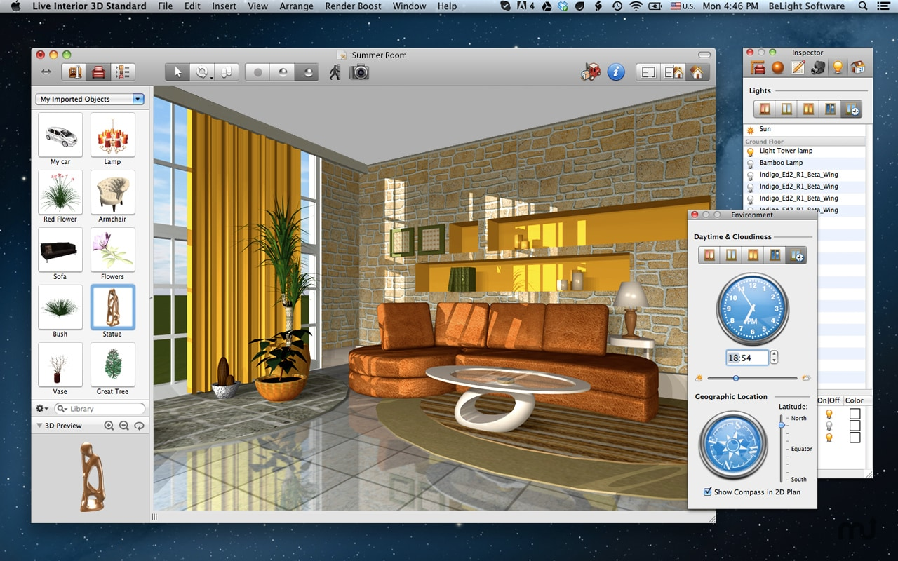 Free interior design software for mac for Free home interior design software