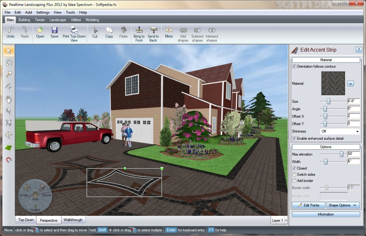 Free landscape design software for windows for Home furniture design software
