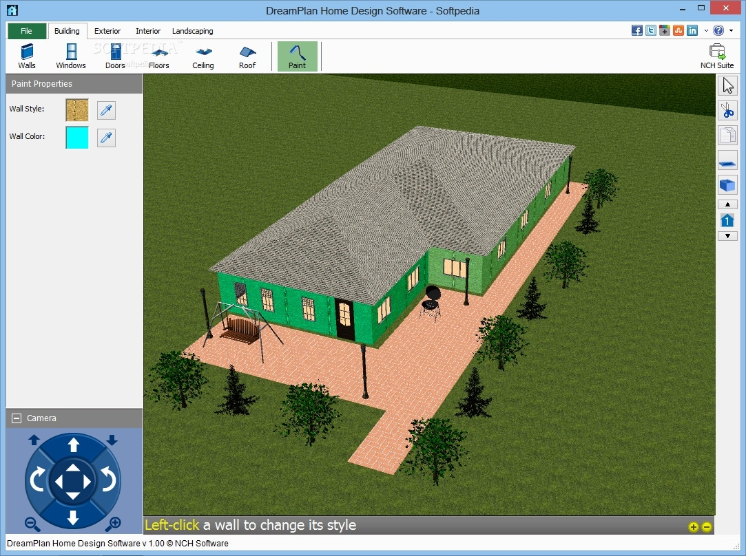 Free floor plan software windows for Free online 3d home design software