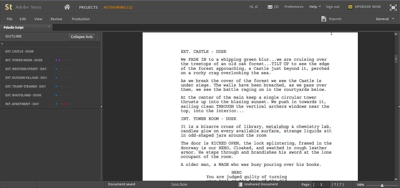 online script writing software