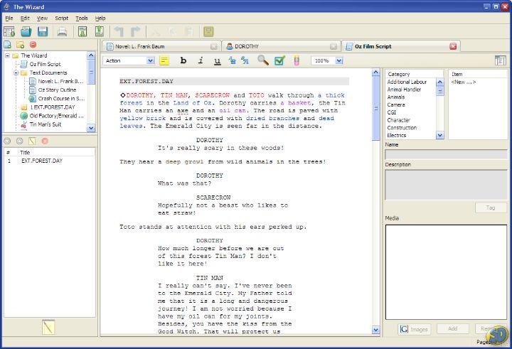 professional script writing software Final draft - professional screenwriting software for mac os x and  practical scriptwriter - professional script writing software for windows formats.