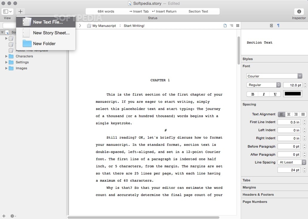 screenplay writing application