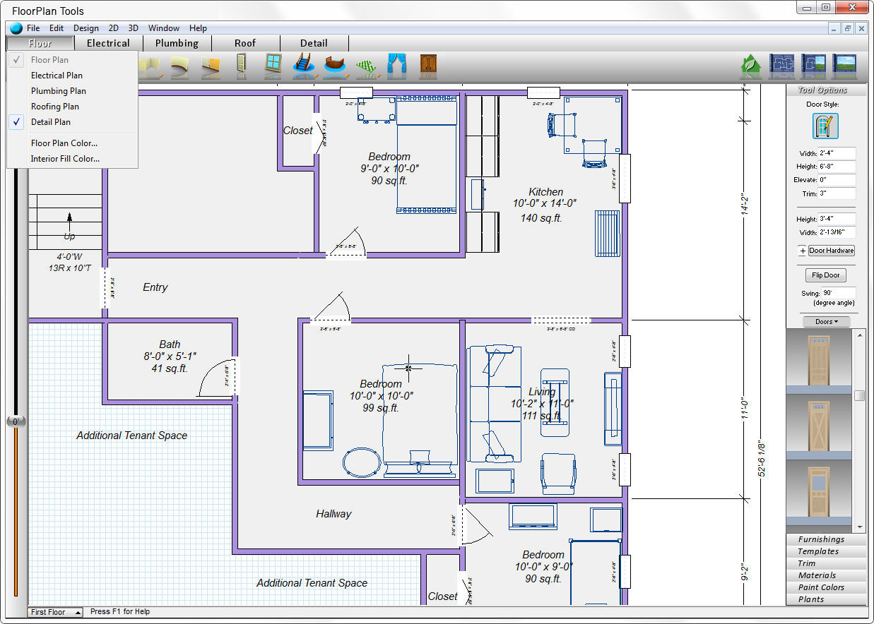 Free floor plan software mac for Home floor design software