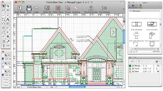 Free floor plan software mac for Floor plan drafting software