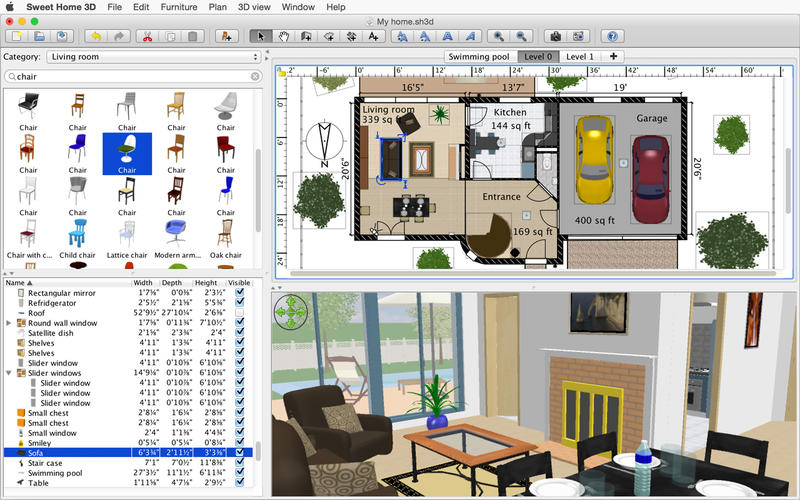 Free home design software for mac Home modeling software