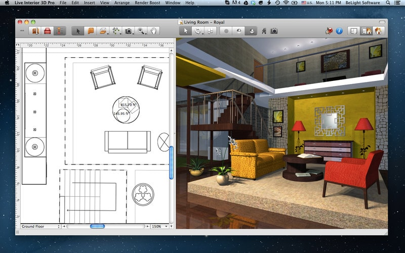 Free home design software for mac for Home architect design software free download