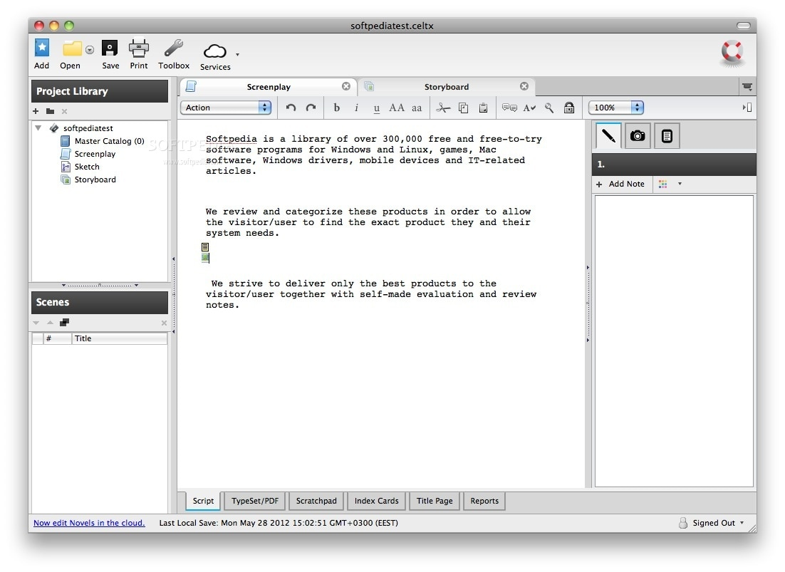 screenwriting software free We've also included a free script breakdown sheet  the screenwriting software  you create script breakdown sheets the desktop software is.