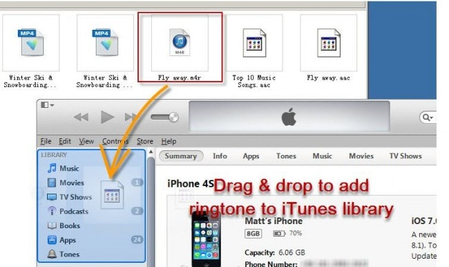 add ringtones to iphone with itunes