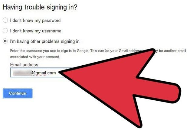 Restore Gmail account