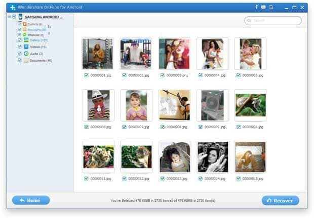 restore deleted photos on android
