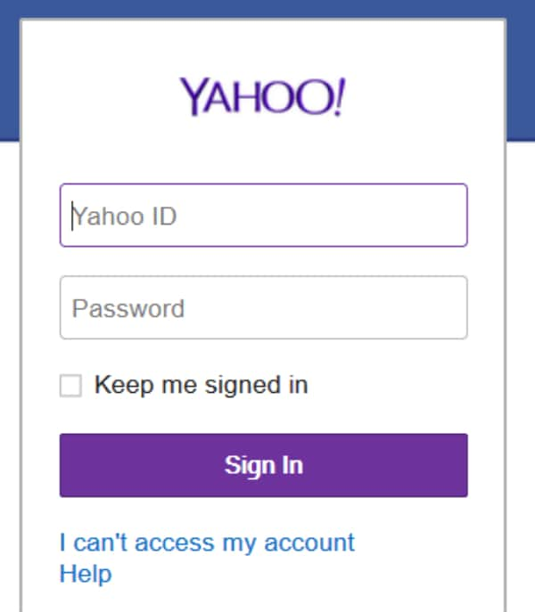 how can i recover my yahoo email account