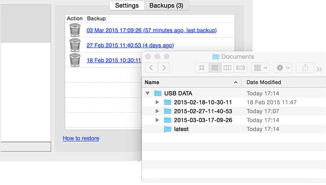 backup flash drive on Mac
