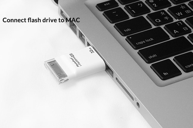 connect flash drive to mac
