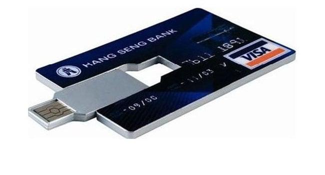 cartão de credito flash drive