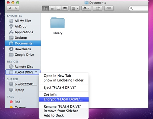 open flash drive op Mac
