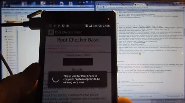 complete to root Sony Z