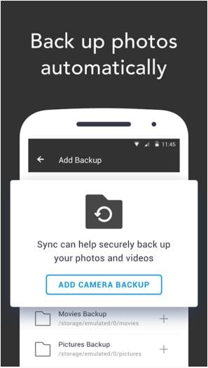 BitTorrent App for backup photos android
