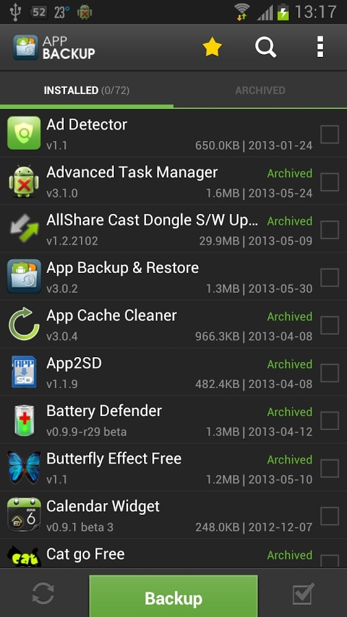 backup and restore app