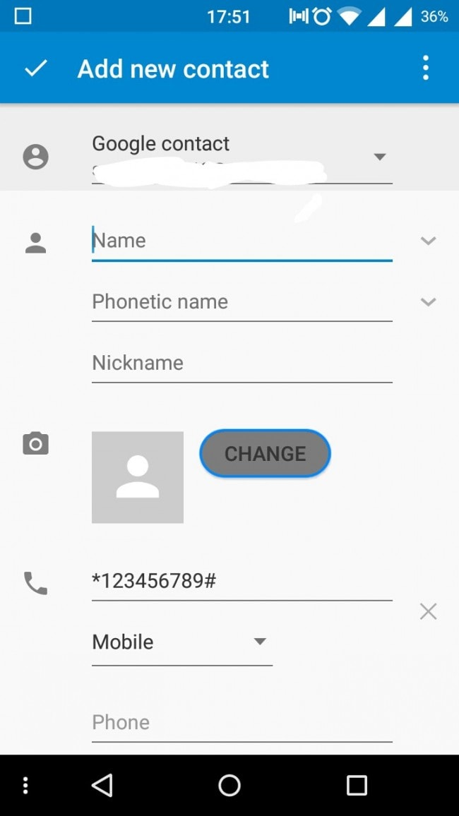 backup android contacts to gmail account step 5