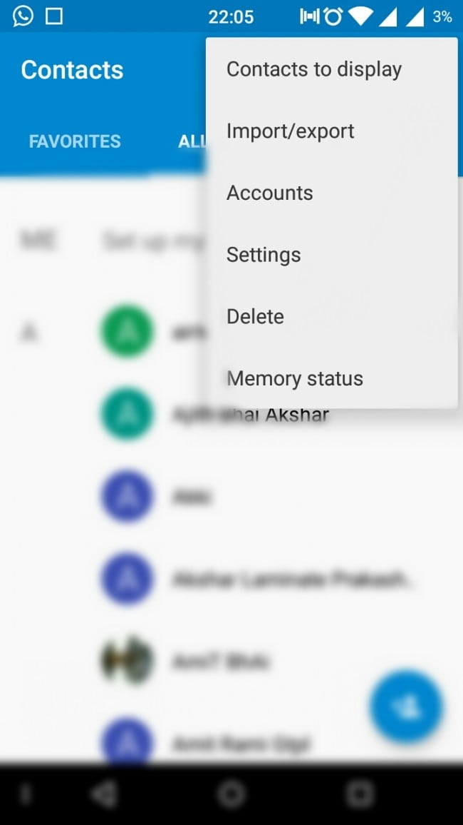 backup android contacts to google account step 2
