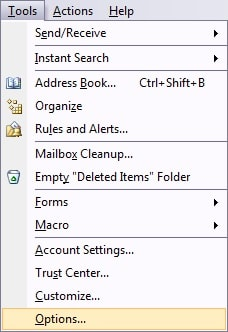 email archiving - email archiving folder setting
