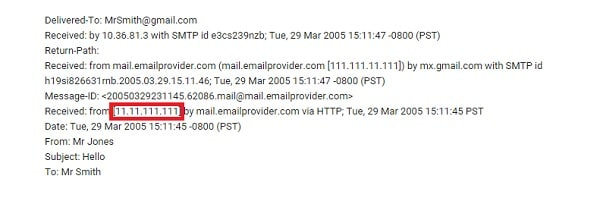 find email sender location