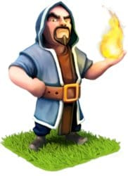 clash of clans - wizard