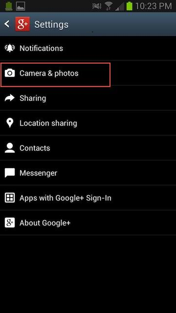 deleted auto photos on android phone step 2
