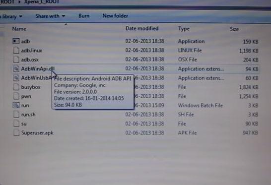 root Sony C2105