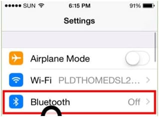 Connect iPhone Bluetooth Car - Turn on Bluetooth on both devices