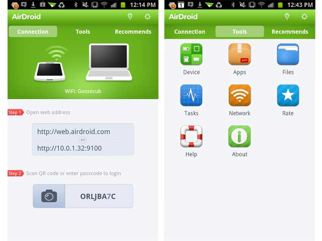 AirDroid backup android phone on mac