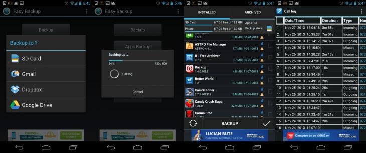 easy backup for android