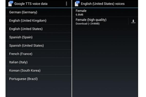 utiliser Google Texte en Parole sur Android