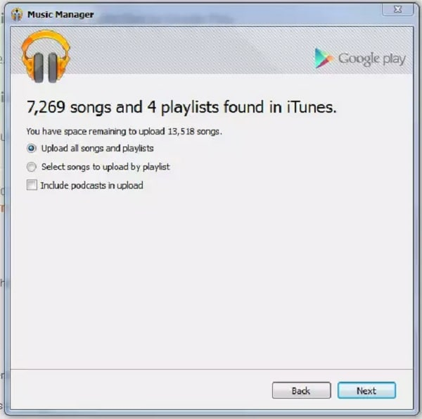 sync iTunes with Google Play
