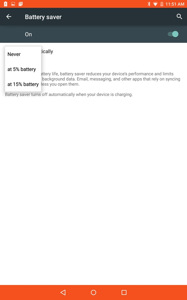 android battery save mode