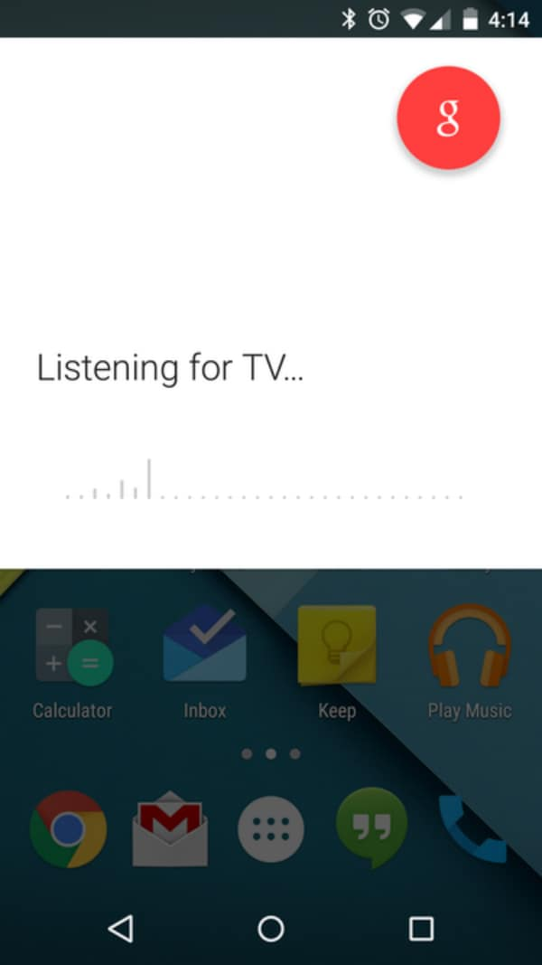 Google Now Listen to TV feature