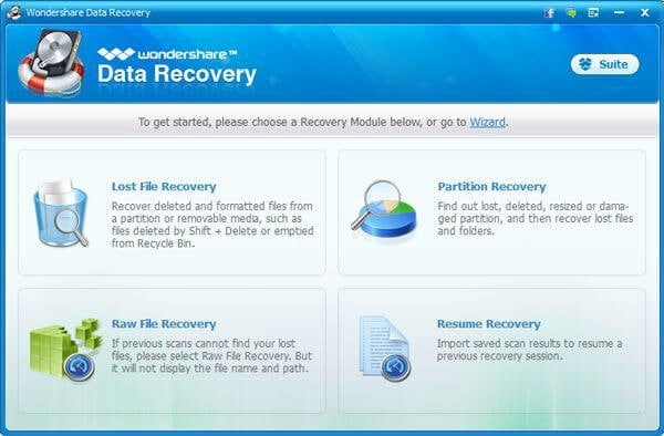 recover deleted photos from nikon by wondershare data recovery step 2