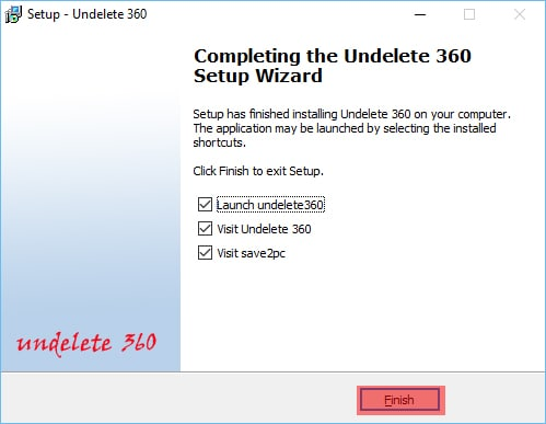 Undeleted360 Installation Process Complete
